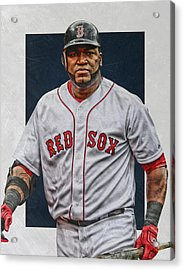 David Ortiz Boston Red Sox Art Acrylic Print by Joe Hamilton