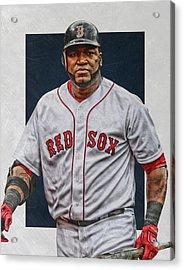 David Ortiz Boston Red Sox Art Acrylic Print