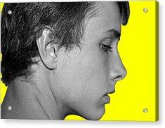 David R On Yellow Acrylic Print