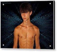 David Riedinger Blue Dragonfly Acrylic Print