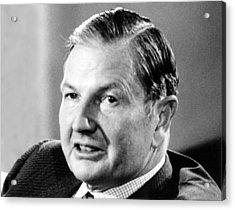 David Rockefeller From Cbs Reportsthe Acrylic Print by Everett
