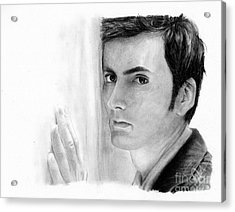 David Tennant 2 Acrylic Print by Rosalinda Markle