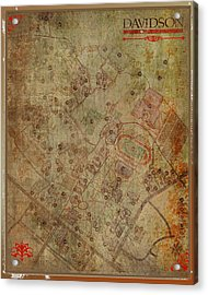 Davidson College Map Acrylic Print by Paulette B Wright
