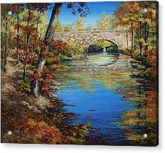 Davies Bridge In November Acrylic Print