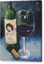 Davinci Chianti For One   Acrylic Print by Torrie Smiley