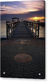 Davis Bay Pier Evening Light Acrylic Print