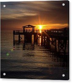 Davis Bay Pier Sunset Acrylic Print
