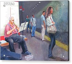 Davis Sq. Cambridge Acrylic Print