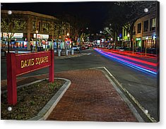 Davis Square Sign Somerville Ma Mikes Acrylic Print