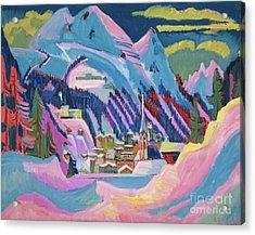 Davos In Winter Acrylic Print