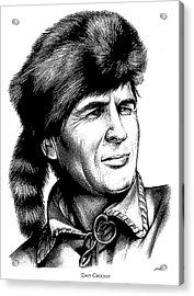 Davy Crockett Acrylic Print by Greg Joens