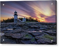 Dawn Breaking At Marshall Point Lighthouse Acrylic Print