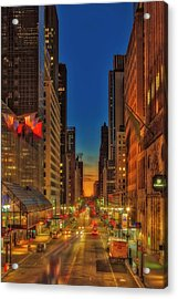 Acrylic Print featuring the photograph Dawn At 42nd Street Nyc by Susan Candelario