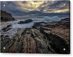 Acrylic Print featuring the photograph Dawn At Bald Head Cliff by Rick Berk
