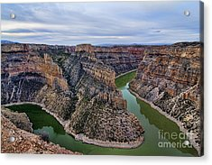 Dawn At Devils Overlook Bighorn Canyon Acrylic Print