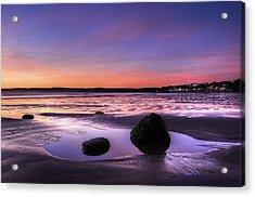Dawn At Filey Acrylic Print by Svetlana Sewell