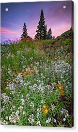 Acrylic Print featuring the photograph Dawn At Height Of Land by Rick Berk