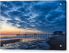 Dawn At Jennete's Pier Acrylic Print