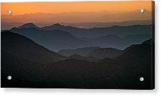 Acrylic Print featuring the photograph Dawn At Jirisan by Ng Hock How