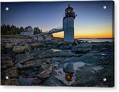 Dawn At Marshall Point Acrylic Print by Rick Berk