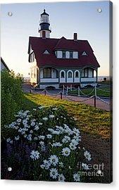 Dawn At Portland Head Light, Cape Elizabeth, Maine  -08614 Acrylic Print by John Bald