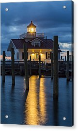 Dawn At Roanoke Marshes Lighthouse Acrylic Print