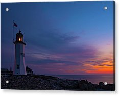 Dawn At Scituate Light Acrylic Print
