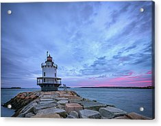 Dawn At Spring Point Ledge Lighthouse Acrylic Print