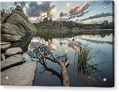 Acrylic Print featuring the photograph Dawn At Sylvan Lake by Adam Romanowicz