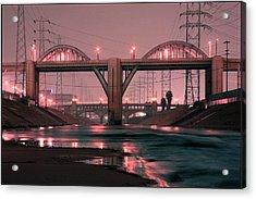 Dawn At The 6th Street Bridge Acrylic Print by Kevin  Break