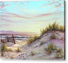 Dawn At The Beach Acrylic Print by Joe Mandrick