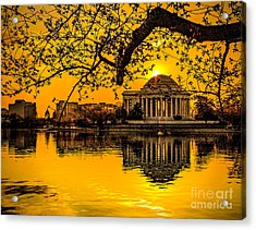 Acrylic Print featuring the photograph Dawn At The Jefferson Memorial  by Nick Zelinsky