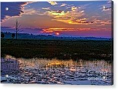 Dawn Breaking Over Saint Marks Acrylic Print