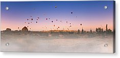 Dawn, Cappadocia Acrylic Print by Marji Lang