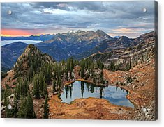 Dawn Glow At Silver Glance Lake. Acrylic Print