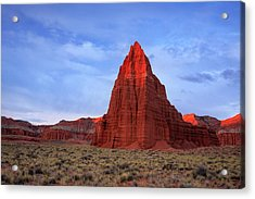 Acrylic Print featuring the photograph Dawn Glow In Cathedral Valley. by Johnny Adolphson