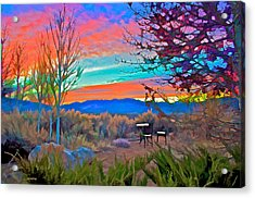 Dawn In El Prado  Acrylic Print