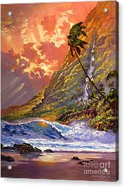 Dawn In Oahu Acrylic Print