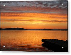 Dawn In The Sky At Dusavik Acrylic Print