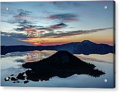 Acrylic Print featuring the photograph Dawn Inside The Crater by Pierre Leclerc Photography