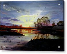 Acrylic Print featuring the painting Dawn by Jane Autry