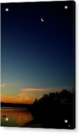 Acrylic Print featuring the photograph Dawn Kingston Point Beach by Tom Romeo