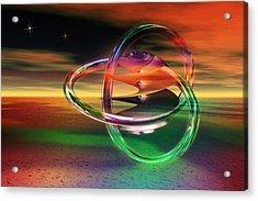 Acrylic Print featuring the digital art Dawn Of New Creation by Shadowlea Is