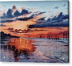Dawn On Crystal Beach Acrylic Print