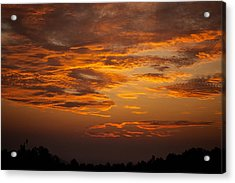 Dawn On Gaither Mountain At Ponca Wilderness Acrylic Print