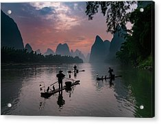 Waiting For Sunrise On Lee River. Acrylic Print