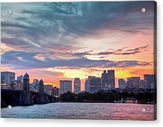 Dawn On The Charles River Acrylic Print