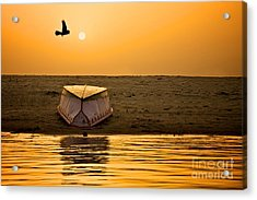 Dawn On The Ganga Acrylic Print