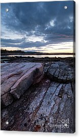 Dawn On The Shore In Southwest Harbor, Maine  #40140-40142 Acrylic Print