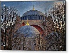 Dawn Over Hagia Sophia Acrylic Print by Joan Carroll
